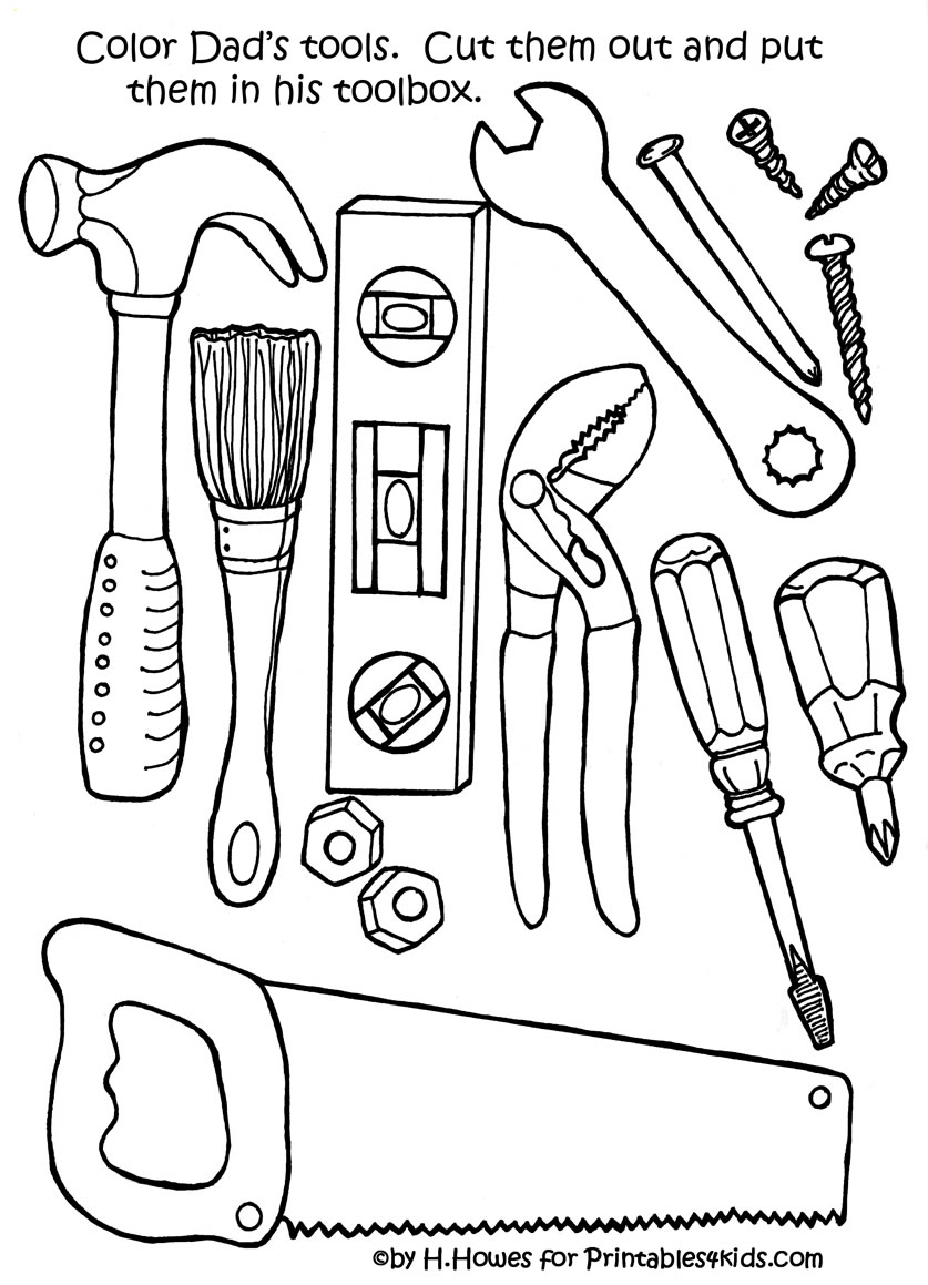 Free Kitchen Utensils Coloring Pages