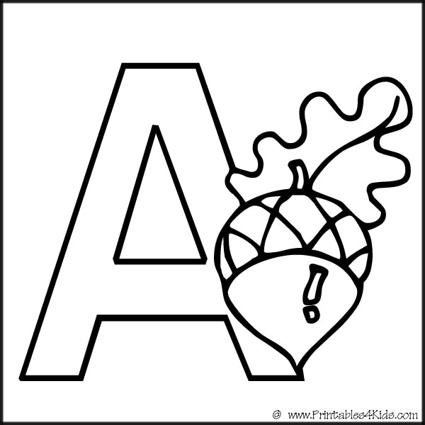letter a coloring pages free - photo#34