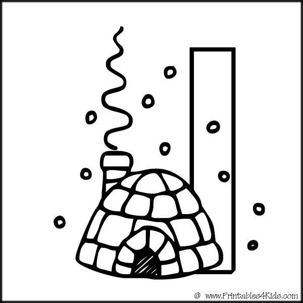Alphabet Coloring Page Letter I Igloo : Printables for Kids – free ...
