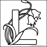 Alphabet Coloring Page Letter L Lily