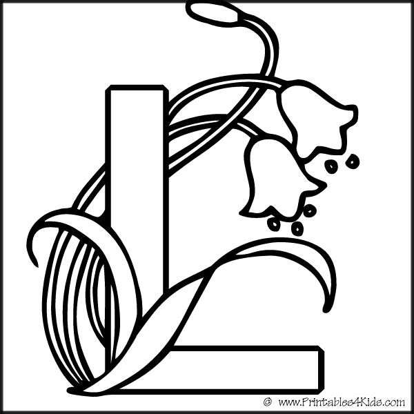 Free Coloring Pages Of Fancy Letter L Letter L Coloring Pages