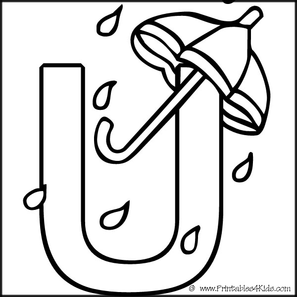 alphabet u coloring pages - photo#5