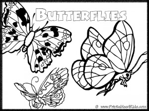 Butterfly Coloring Page 7