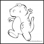dancing dinosaur coloring pages | Printables4Kids - free coloring pages, word search puzzles ...