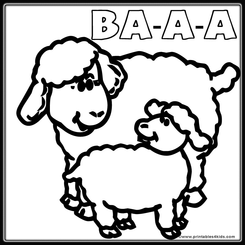 Baby Sheep Coloring Pages Coloring Pages