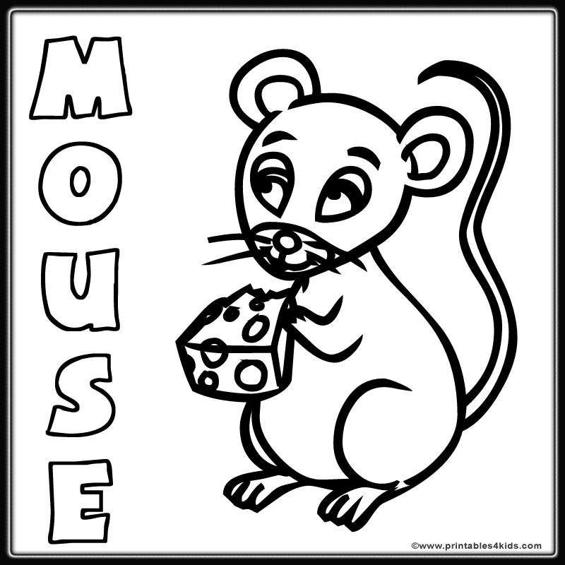 cute mouse coloring page printables for kids free word search puzzles coloring pages and other activities