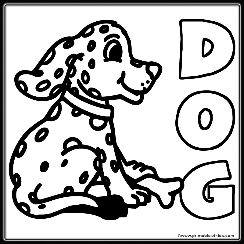 spotted dog coloring page printables for kids free word search puzzles coloring pages and other activities - Dog Coloring Page