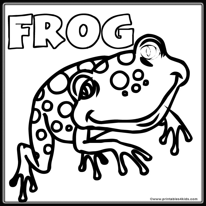spotted frog coloring page printables for kids u2013 free word search puzzles coloring pages and other activities - Printable Coloring Pages Frogs