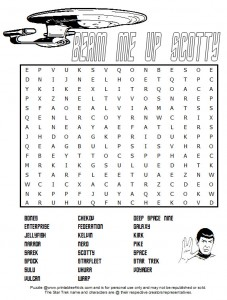 Star Trek Word Search