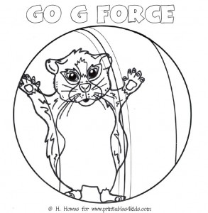 G Force Hamster in Ball Coloring Page