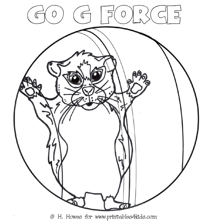 Hamster in ball coloring page Go GForce Printables for Kids