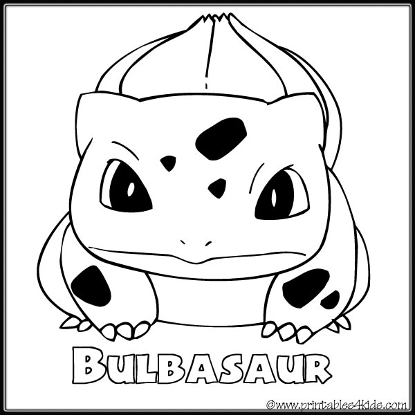 Pokemon Bulbasaur coloring page Printables for Kids free word