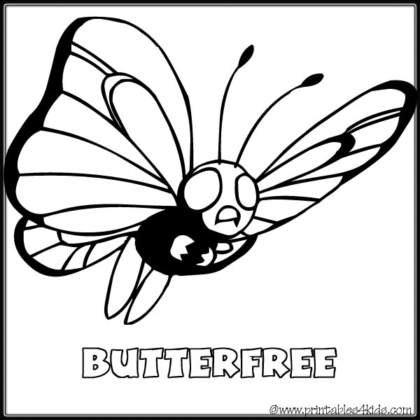 pokemon butter free coloring pages - photo#12