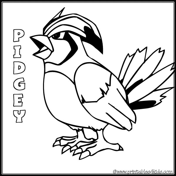 pidgey coloring page pidgey pages coloring pages