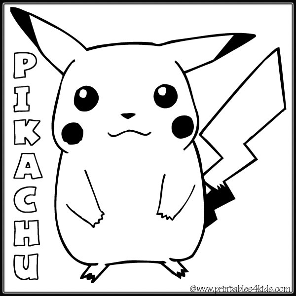 girl pikachu colouring pages