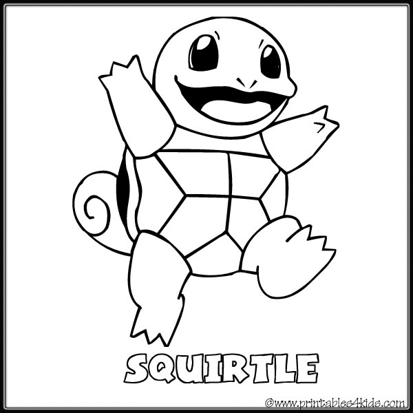 Pokemon Squirtle coloring page Printables for Kids free word