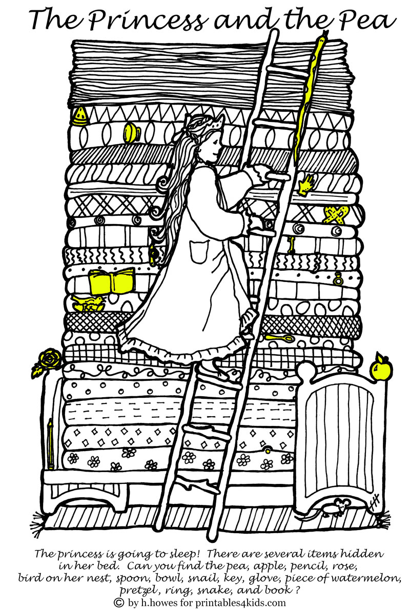 answer key for princess and the pea hidden pictures activity