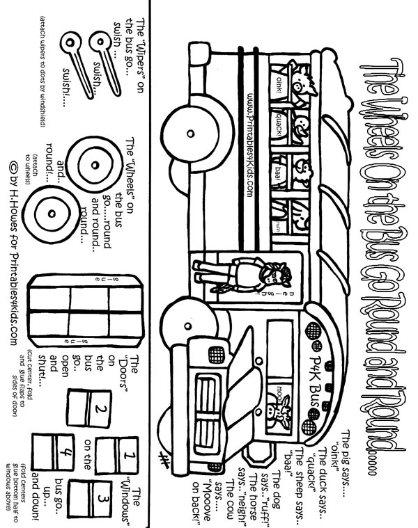 printable wheels on the bus back to school preschool activity printables for kids free word search puzzles coloring pages and other activities - Activity Printables
