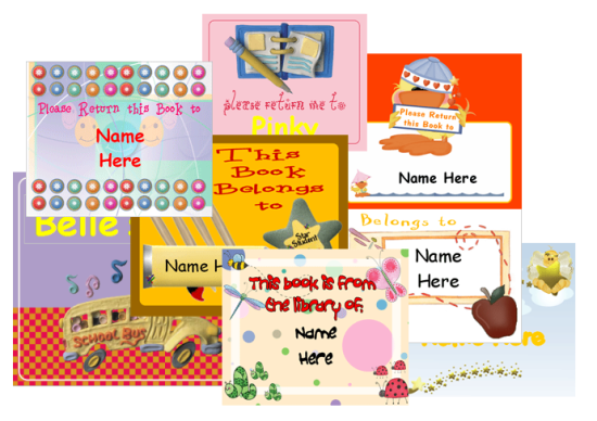print and personalize book labels for kids