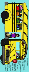 Color example of Wheels on the Bus Activity