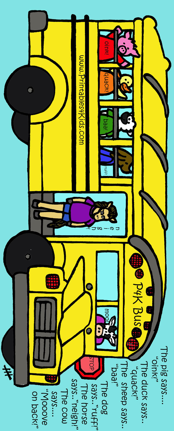 Print and color school bus back