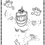 Monsters vs Aliens Printable Dot to Dot