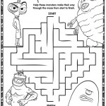 Monsters vs Aliens Printable Maze