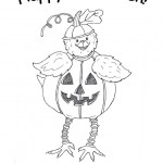 Halloween Chick Coloring Page