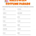 Halloween Costume Word Scramble