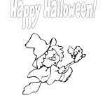 Halloween Silly Witch Coloring Page