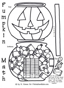 Pumpkin Math and Graph Worksheet