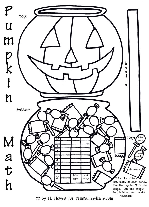 halloween pumpkin trick or treat math graph activity printables for kids free word search. Black Bedroom Furniture Sets. Home Design Ideas
