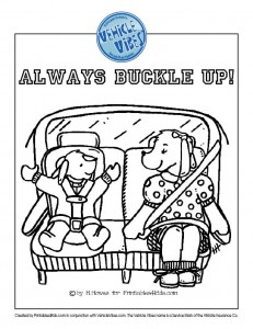 Click to view and print Always Buckle Up in full size