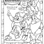 Seven Dwarfs Coloring Sheet