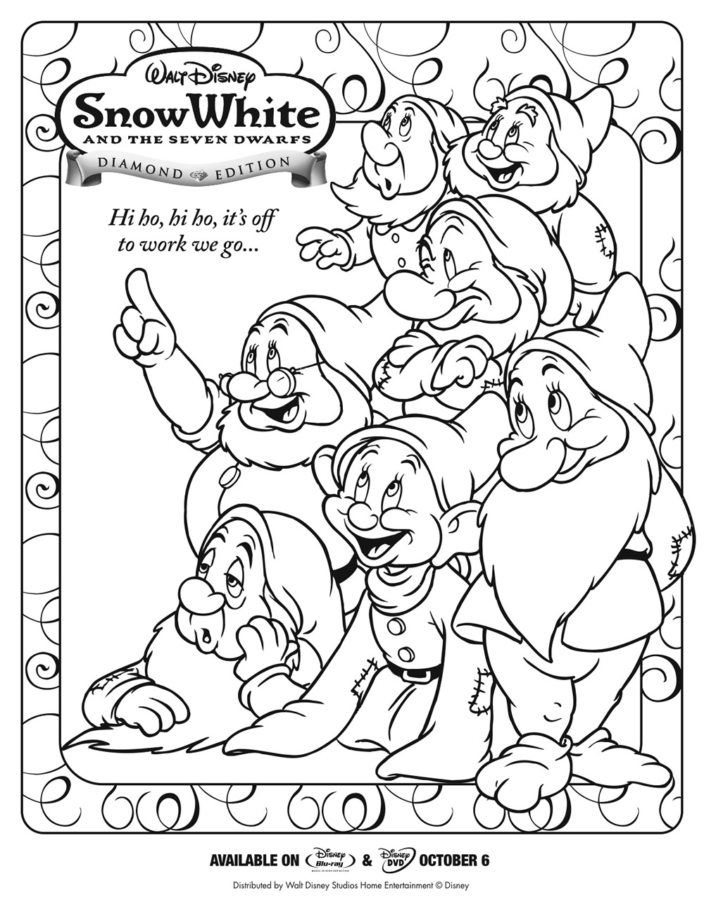 7-Dwarfs-Coloring-Page : Printables for Kids – free word search ...