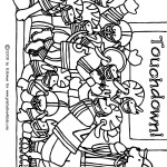 Pups Playing Football Coloring Page