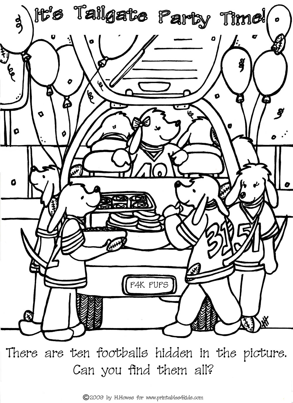 find the hidden footballs tailgate printables for kids free word search puzzles coloring pages and other activities - Hidden Pictures For Kids