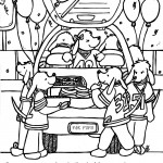 Football Party Hidden Pictures Coloring Page