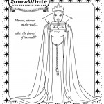Snow White Queen Coloring Page
