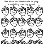 Acorn Multiplication Math Memory Worksheet
