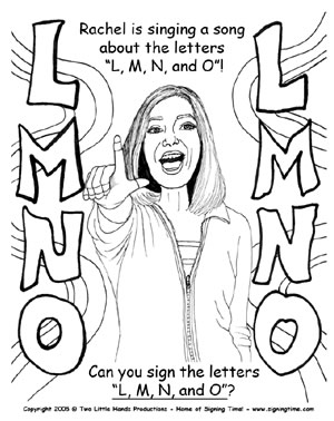 sign language printable activities