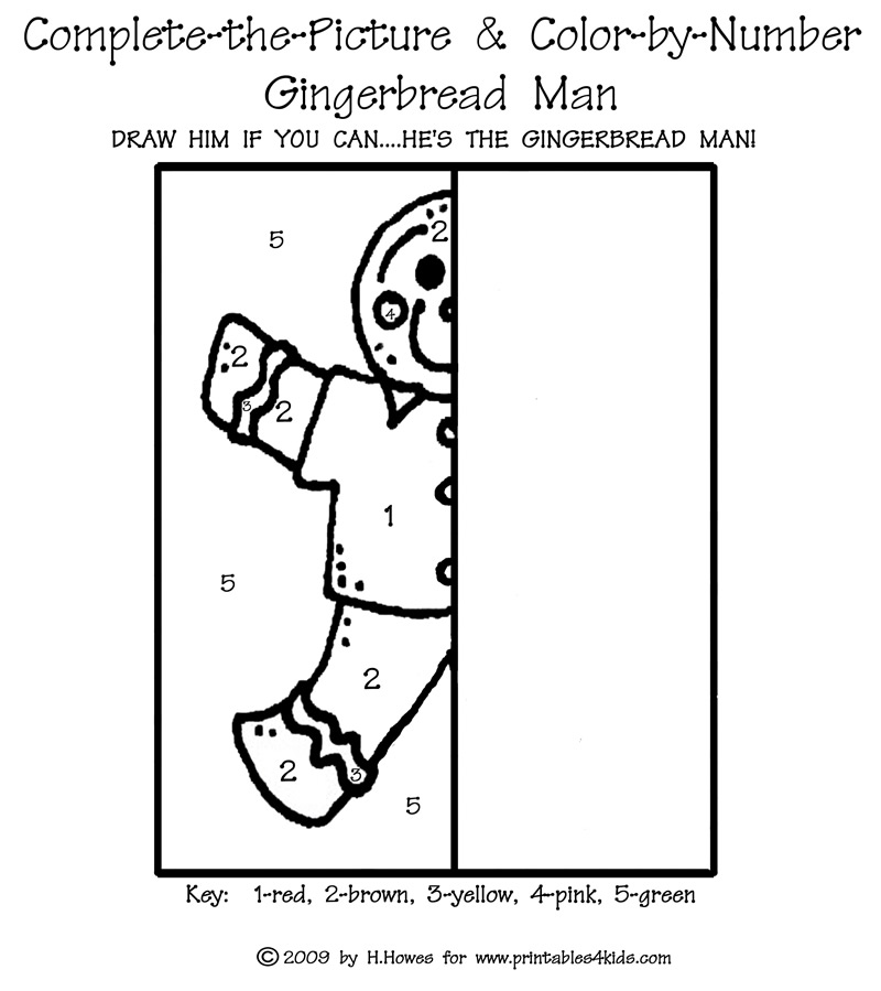 complete the picture gingerbread man printables for kids free word search puzzles coloring. Black Bedroom Furniture Sets. Home Design Ideas