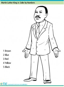 Martin Luther King Jr Color By Number