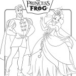 Princess and the Frog Movie Coloring Page