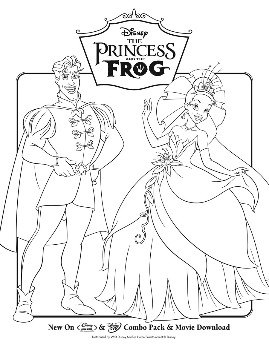 Princess in the frog coloring pages - Coloring Pages Princess And The Frog Princess And The Frog Movie Coloring Page Printables For