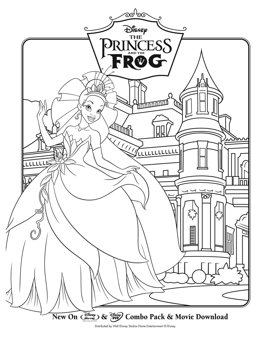 Princess coloring pages tiana