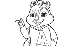 Alvin and the Chipmunks printable coloring pages