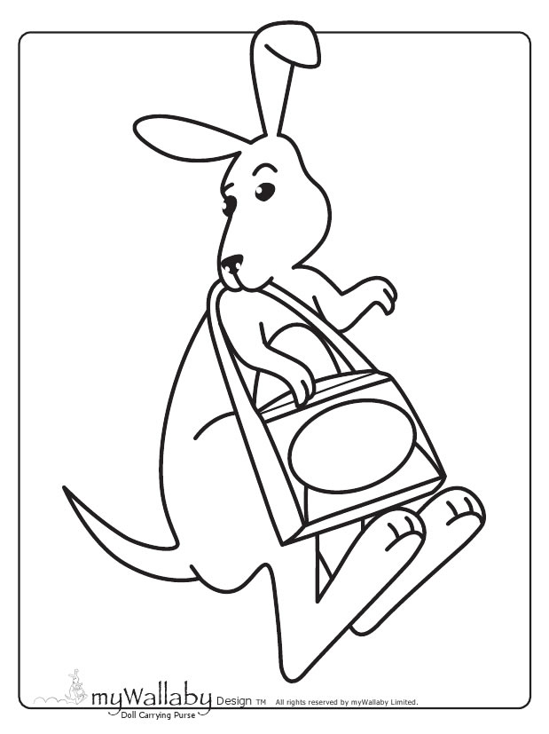 Wallaby Coloring Pages