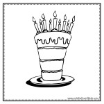 Tall Cake Coloring Page