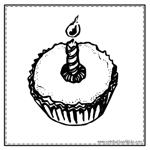 1st Birthday Cupcake Coloring Page Cupcake Coloring Pages Kids
